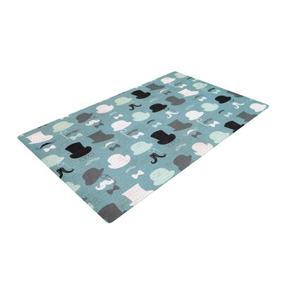 Heidi Jennings Hats off to You Blue/Gray Area Rug Rug Size: 4 x 6