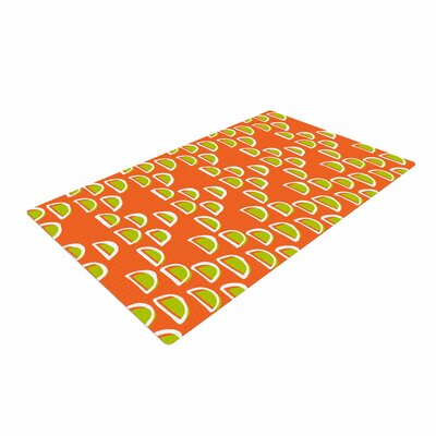 Holly Helgeson Geo Seed Orange Area Rug Rug Size: 4 x 6