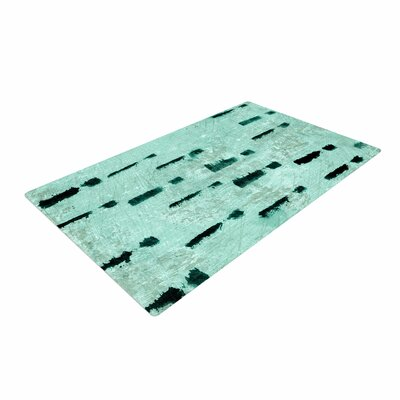 Iris Lehnhardt Texture and Pattern Abstract Teal Area Rug Rug Size: 4 x 6
