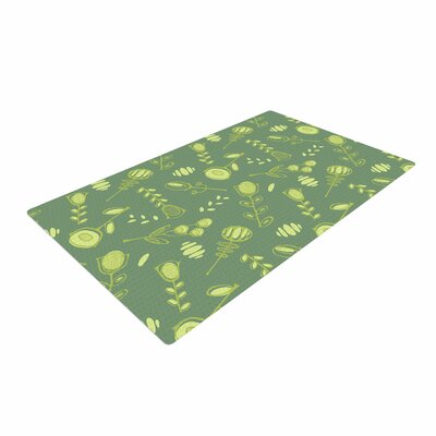 Holly Helgeson Hattie Floral Green Area Rug
