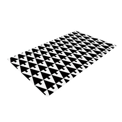 Gabriela Fuente Happy X-Mas Geometric Monotone Black/White Area Rug
