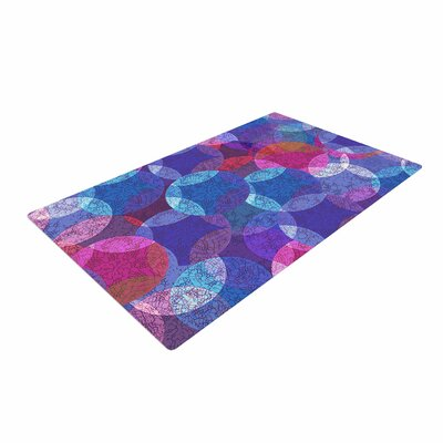 Fernanda Sternieri Mandala Abstract Pink/Blue Area Rug Rug Size: 2 x 3