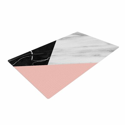 Cafelab Marble Collage With Pale Pink Gray/Pink Area Rug