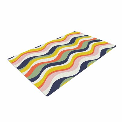 Gukuuki Rainbow Stripes Multicolor Area Rug