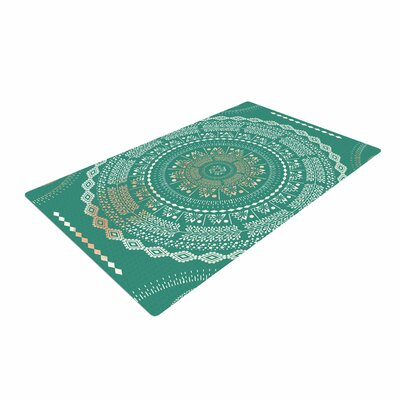 Famenxt Mint Medallion Pattern Mint Area Rug Rug Size: 4 x 6