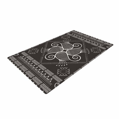 Famenxt Paisley Into The Dreams Dark Gray/Digital Area Rug Rug Size: 4 x 6
