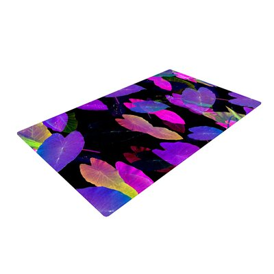 Fernanda Sternieri Fluo Jungle Purple/Black Area Rug Rug Size: 2 x 3
