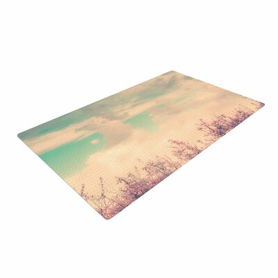 Graphic Tabby Spring Daydream Blue/Nature Area Rug Rug Size: 2 x 3