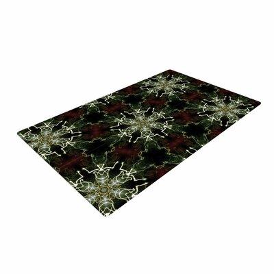 Gukuuki Mandala Lights Abstract Black Area Rug Rug Size: 4 x 6