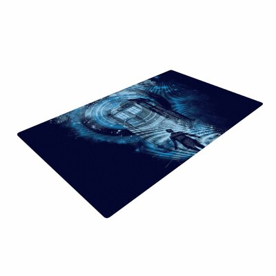 Frederic Levy-Hadida Master Of Ceremony Blue/Navy Area Rug Rug Size: 2 x 3