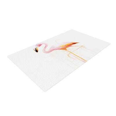 Geordanna Cordero-Fields My Flamingo Pink/White Area Rug Rug Size: 2 x 3