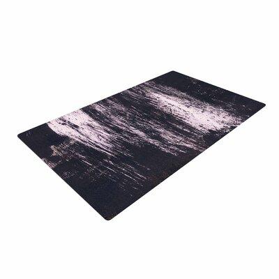 Iris Lehnhardt Brushstrokes 1 Abstract Gray Area Rug