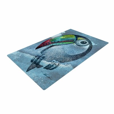 Ivan Joh Tucan Blue/Pastel Area Rug Rug Size: 4 x 6