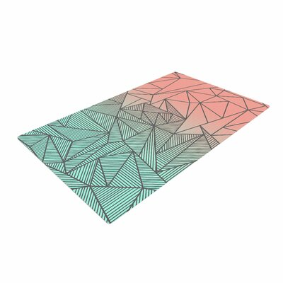 Fimbis Bodhi Rays Geometric Illustration Blue/Orange Area Rug