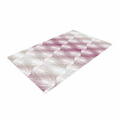 Gukuuki Stripe Palms Pink/White Area Rug Rug Size: 4 x 6