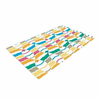 Gukuuki Percy Lemore Pattern Blue Area Rug Rug Size: 4 x 6