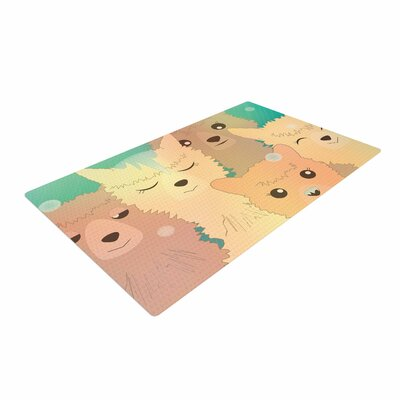 Graphic Tabby Alpacas Rug Size: 2 x 3