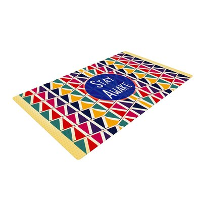 Famenxt Stay Awake Yellow Area Rug Rug Size: 2 x 3
