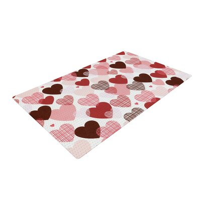 Heidi Jennings Love Pink/Red Area Rug Rug Size: 4 x 6