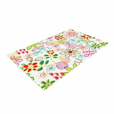 Holly Helgeson Wildflower White/Multicolor Area Rug