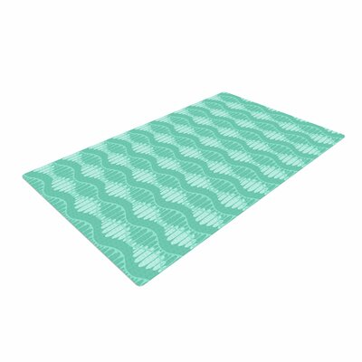 Holly Helgeson Mod Waves Pattern Teal Area Rug Rug Size: 4 x 6