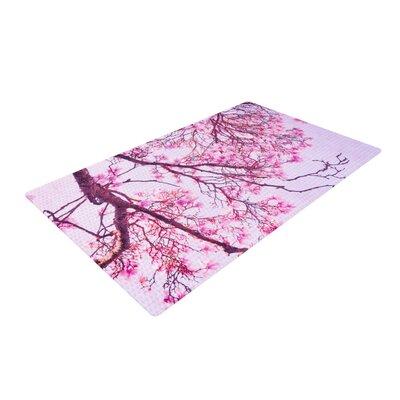 Iris Lehnhardt Magnolia Trees Branches Pink Area Rug