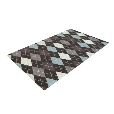 Heidi Jennings Argyle Blue/Gray Area Rug Rug Size: 4 x 6