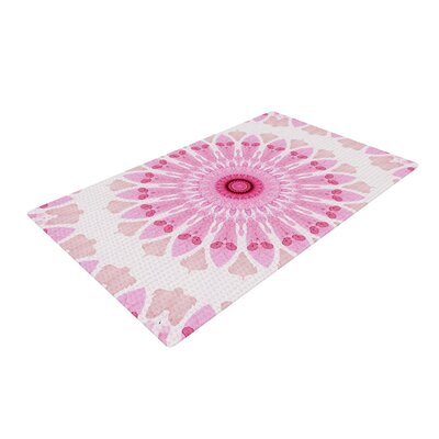 Iris Lehnhardt Flower Power Abstract Pink Area Rug Rug Size: 2 x 3