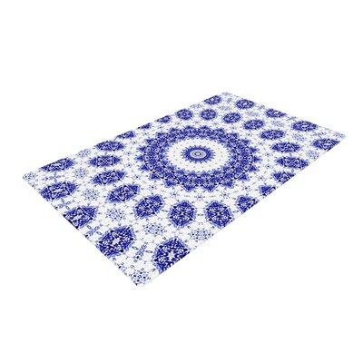 Iris Lehnhardt M2 Blue/White Area Rug Rug Size: 4 x 6
