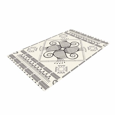Famenxt Paisley Into The Dream Pattern Beige Area Rug Rug Size: 4 x 6