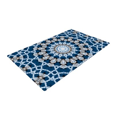 Iris Lehnhardt Mandala II Abstract Blue Area Rug