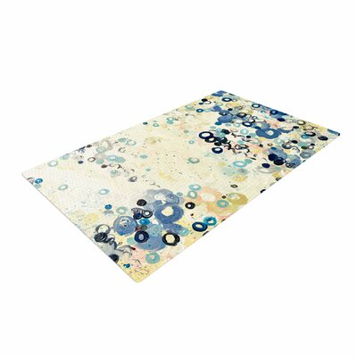 Ebi Emporium And Its Up She Goes Blue/Cream Area Rug Rug Size: 4 x 6