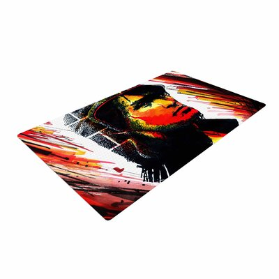 Ivan Joh Tsoi Is Alive Red Area Rug