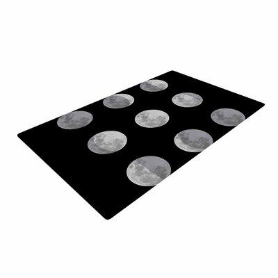 Jackie Rose Lunar OCD Black/Gray Area Rug