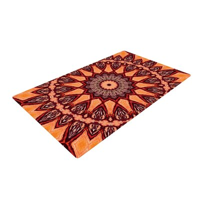 Iris Lehnhardt Africa Brown/Orange Area Rug Rug Size: 2 x 3