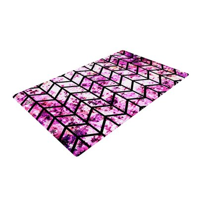 Ebi Emporium Chevron Wonderland Pink/Black Area Rug Rug Size: 2 x 3