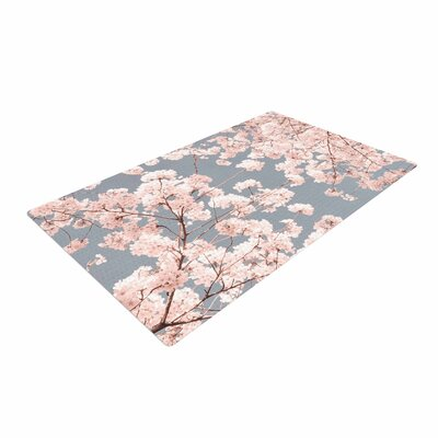 Iris Lehnhardt Rosy Sky Floral Pink Area Rug