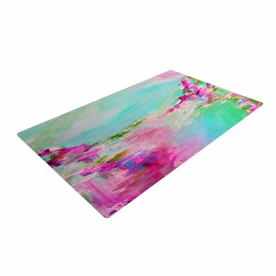 Ebi Emporium Something about the Sea 2 Teal/Pink Area Rug Rug Size: 4 x 6