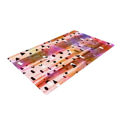 Ebi Emporium Geo Party Painting Pink Area Rug Rug Size: 2 x 3