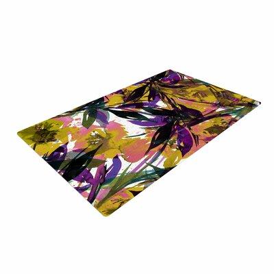 Ebi Emporium Floral Fiesta Gold/Lavender Area Rug Rug Size: 2 x 3