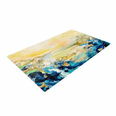 Ebi Emporium The Reverie Yellow/Blue Area Rug Rug Size: 4 x 6