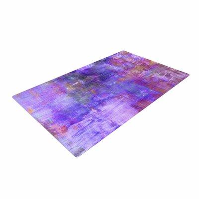Ebi Emporium Fog Painting Purple Area Rug Rug Size: 4' x 6'