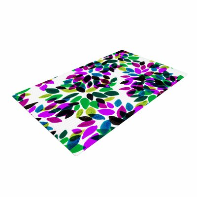 Ebi Emporium Dahlia Dots 2 Purple/Green Area Rug