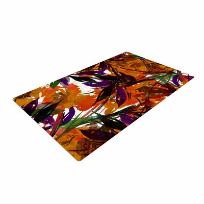 Ebi Emporium Floral Fiesta Floral Painting Orange Area Rug
