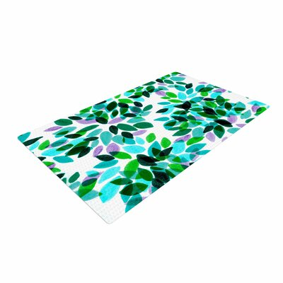 Ebi Emporium Dahlia Dots 7 Teal/Green Area Rug Rug Size: 4 x 6
