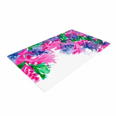 Ebi Emporium Floral Cascade 1 Pink/Green Area Rug