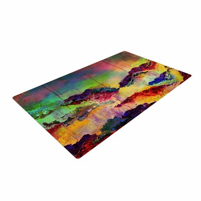 Ebi Emporium Its A Rose Colored Life 4 Yellow/Red Area Rug Rug Size: 4 x 6