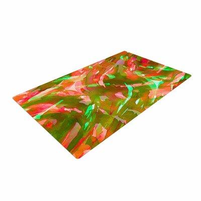 Ebi Emporium Motley Flow 3 Green/Red Area Rug Rug Size: 4 x 6