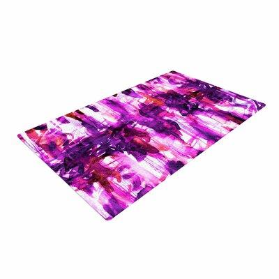 Ebi Emporium Noise 3 Purple/Magenta/White Area Rug Rug Size: 4 x 6