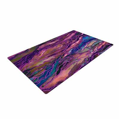 Ebi Emporium Marble Idea! - Rich Jewel Tone Purple/Pink Area Rug Rug Size: 4 x 6
